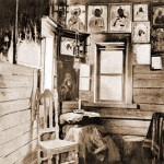 The interior of St. Seraphim's cell at his Far Hermitage - 1903