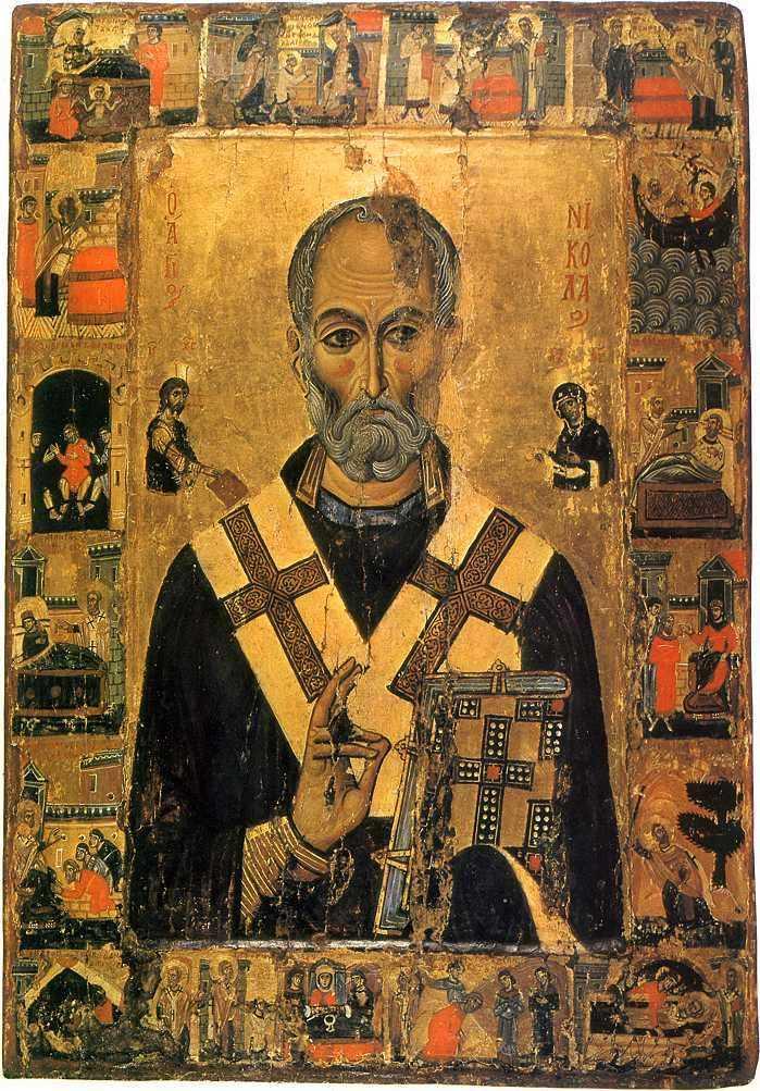 св Никола  XIII в. Монастырь св.Екатерины, Синай